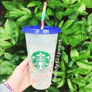 Starbucks Rainbow Confetti Color Changing Cold Cup